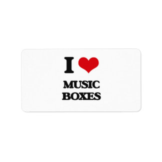 I Love Music Boxes Address Label