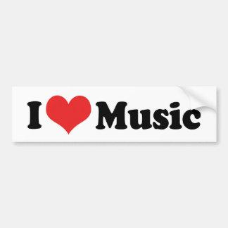 I Love Music Bumper Sticker Car Bumper Sticker