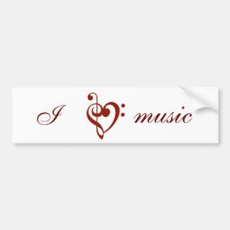 I Love Music Bumper Sticker