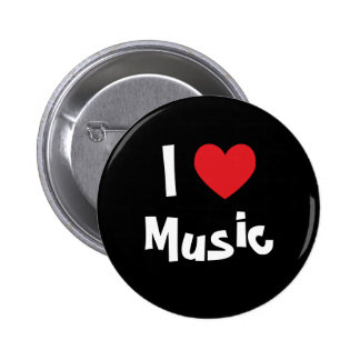 I Love Music Buttons