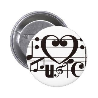 I LOVE MUSIC PINS