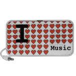 I Love Music Caixinha De Som De Viagem