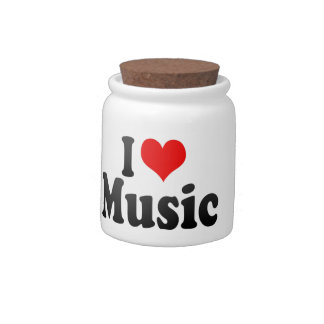 I love Music Candy Jars