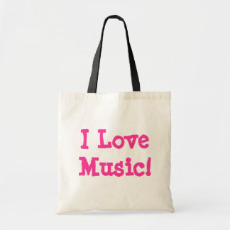 I Love Music! Canvas Bags