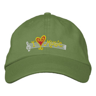 I Love Music Cap Embroidered Baseball Cap