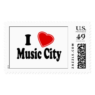I Love Music City Stamp