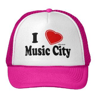 I Love Music City Trucker Hat