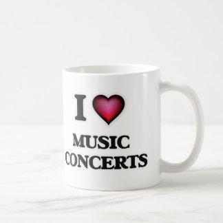 I Love Music Concerts Coffee Mug