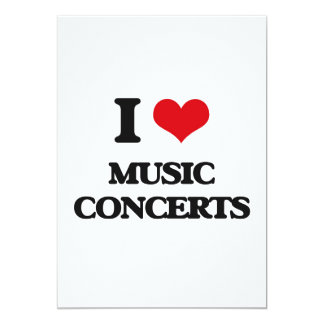 I Love Music Concerts 5x7 Paper Invitation Card