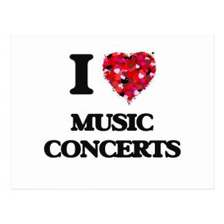 I Love Music Concerts Postcard