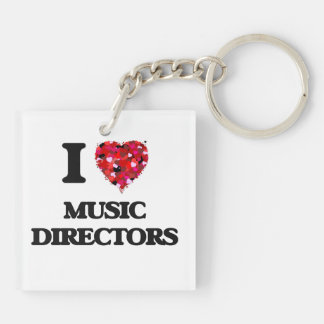 I love Music Directors Double-Sided Square Acrylic Keychain