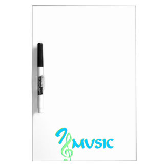 I love music Dry-Erase board