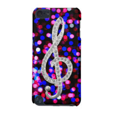 I Love Music G-clef Ipod Touch 5g Cover at Zazzle