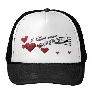 I Love music Hats