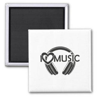 I love music headphones magnet