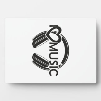 I love music headphones plaque