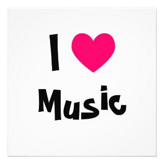I Love Music Personalized Invites