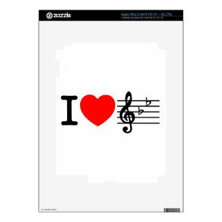 I Love Music iPad 3 Decal
