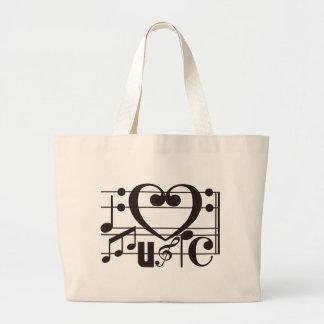 I LOVE MUSIC JUMBO TOTE BAG