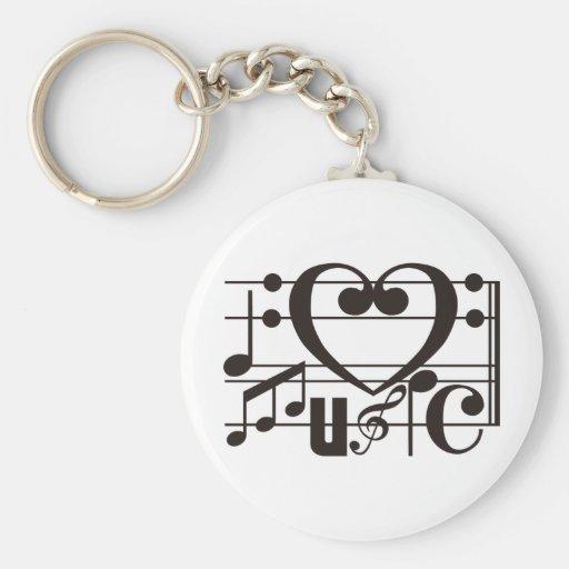 I LOVE MUSIC KEY CHAINS