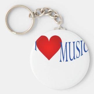 I love music key chain