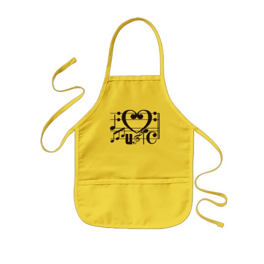 I LOVE MUSIC KIDS' APRON