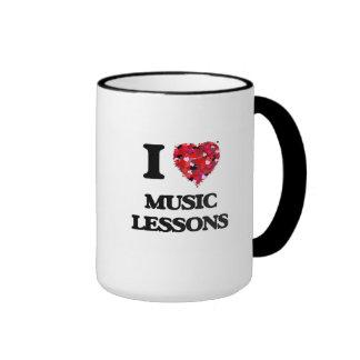 I love Music Lessons Ringer Coffee Mug
