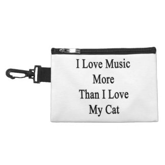 I Love Music More Than I Love My Cat Accessory Bag