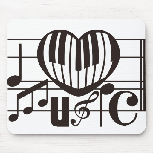 I LOVE MUSIC MOUSE MAT