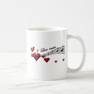 I Love music Classic White Coffee Mug
