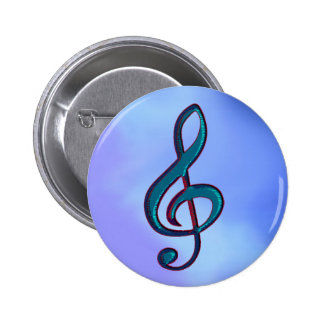 I love music / musical note 2 inch round button
