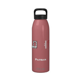 I Love Music Musical Symbols Personalized Water Water Bottles
