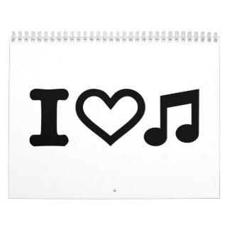 I love music note calendar