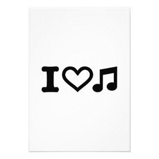 I love music note invitation