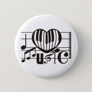 I LOVE MUSIC PINBACK BUTTON