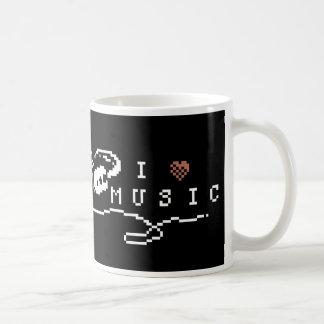 I Love Music Pixel Art Mug