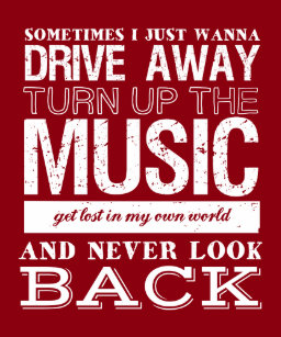 I Love Music Quotes Poster Freedom And Escape