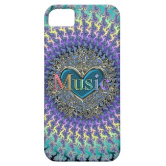 I Love Music Rainbow Spiral Fractal iPhone Case Iphone 5 Cases