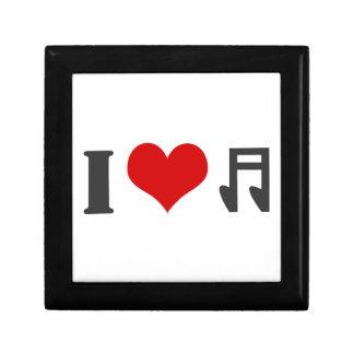 I love music. Red heart design Jewelry Box