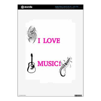 I LOVE MUSIC! SKIN FOR iPad 3