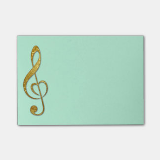 I love music sticky notes pad