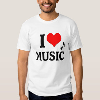 I LOVE MUSIC T SHIRT