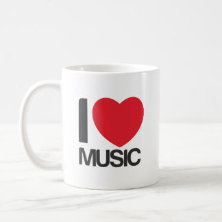 I love music Taza Coffee Mug