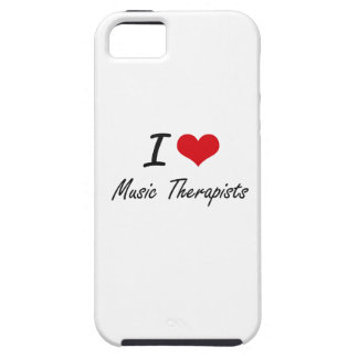 I love Music Therapists iPhone 5 Cases