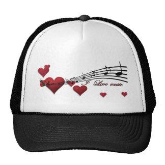 I Love music Trucker Hats