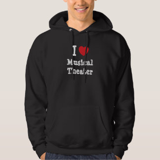 I love Musical Theater heart custom personalized Hoodie
