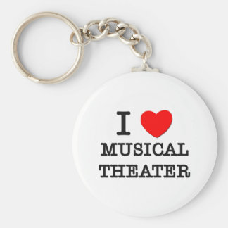 I Love Musical Theater Keychain