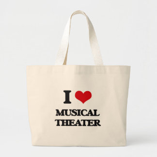 I Love MUSICAL THEATER Large Tote Bag