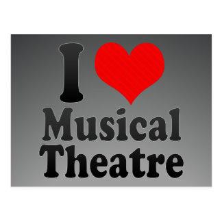 I love Musical Theatre Postcard