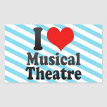 I love Musical Theatre Rectangular Sticker